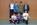 Sie freuten sich über die Tennissportabzeichen: (vorne von links) Louis Klein, Michael Stein, Daniel Hoceini, (hinten von links) Trainer Wilfried Ernst, Leon Lukas Gerdes, Cedrik Tripp, Schulleiter Helmut Klein.